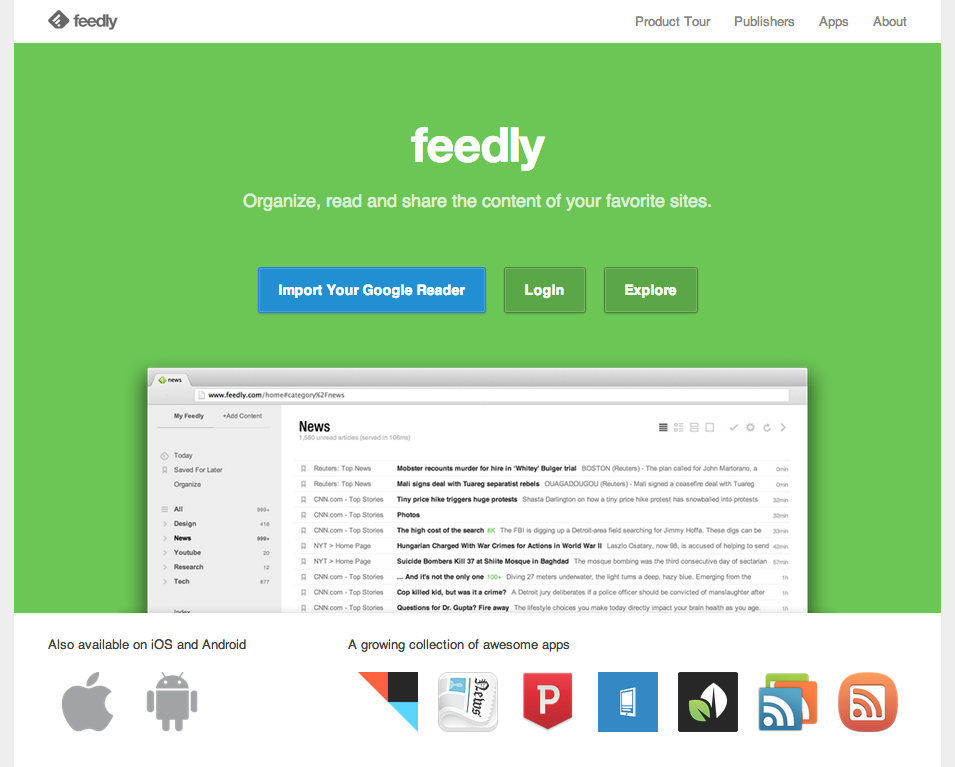 Nube de Feedly