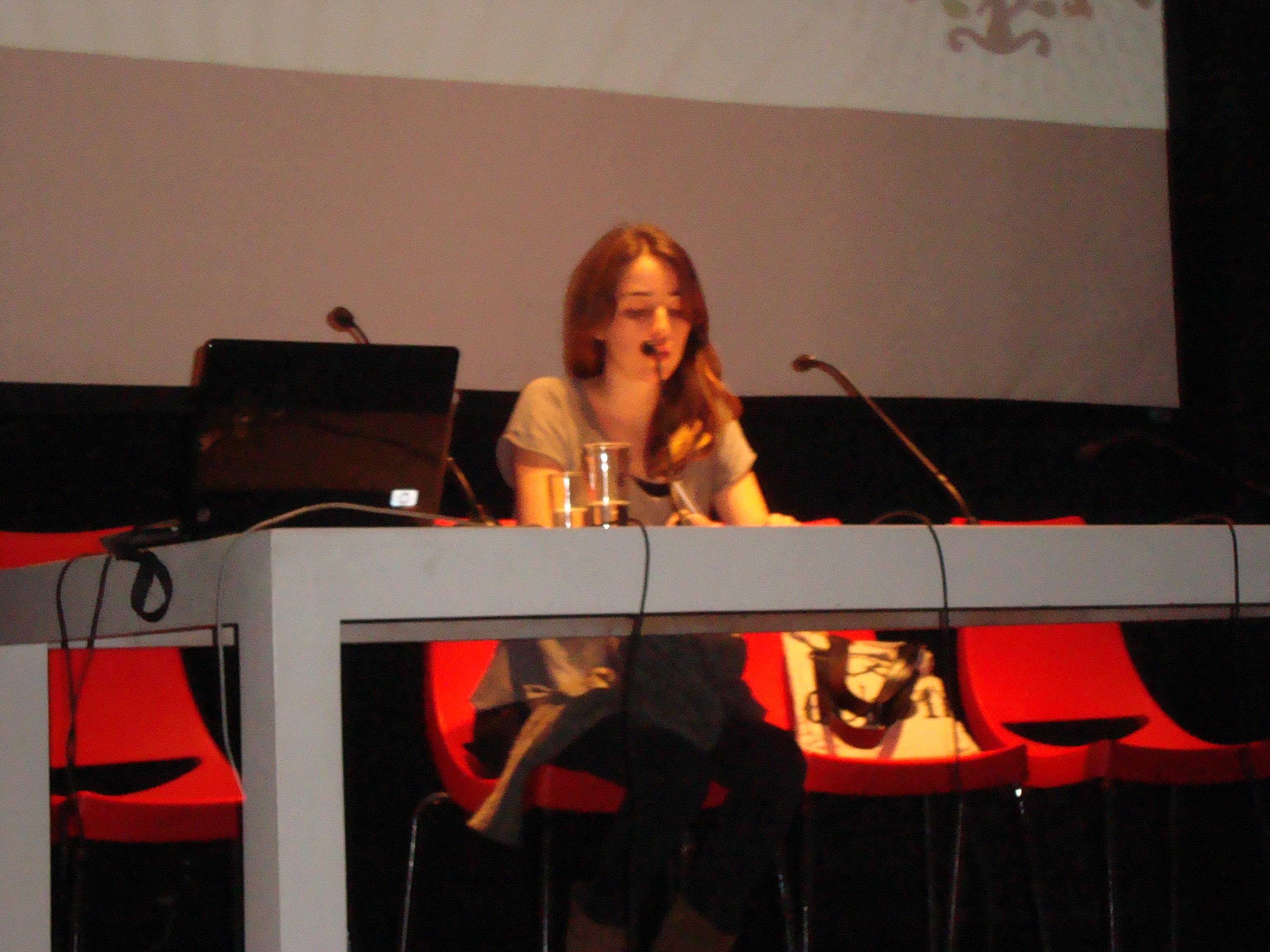 Jimena Ledgard en el II Encuentro Internacional de Periodismo Cultural
