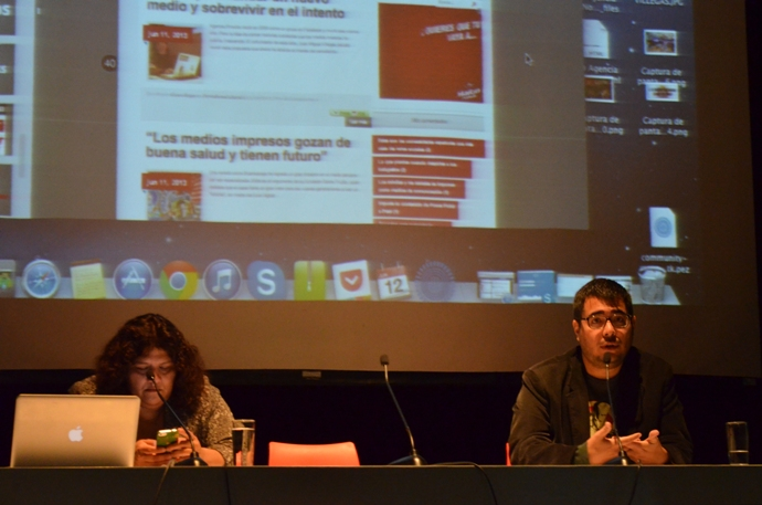 Esther Vargas y Marco Sifuentes. Foto: