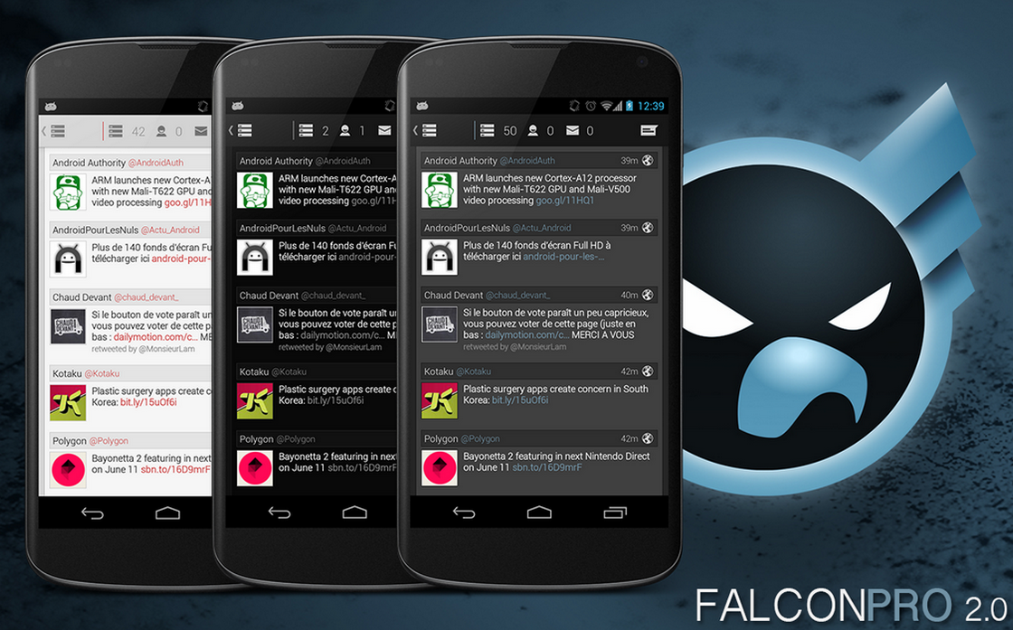 Cliente de Twitter Falcon Pro