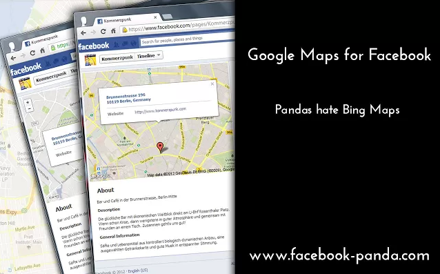 Google maps en Facebook