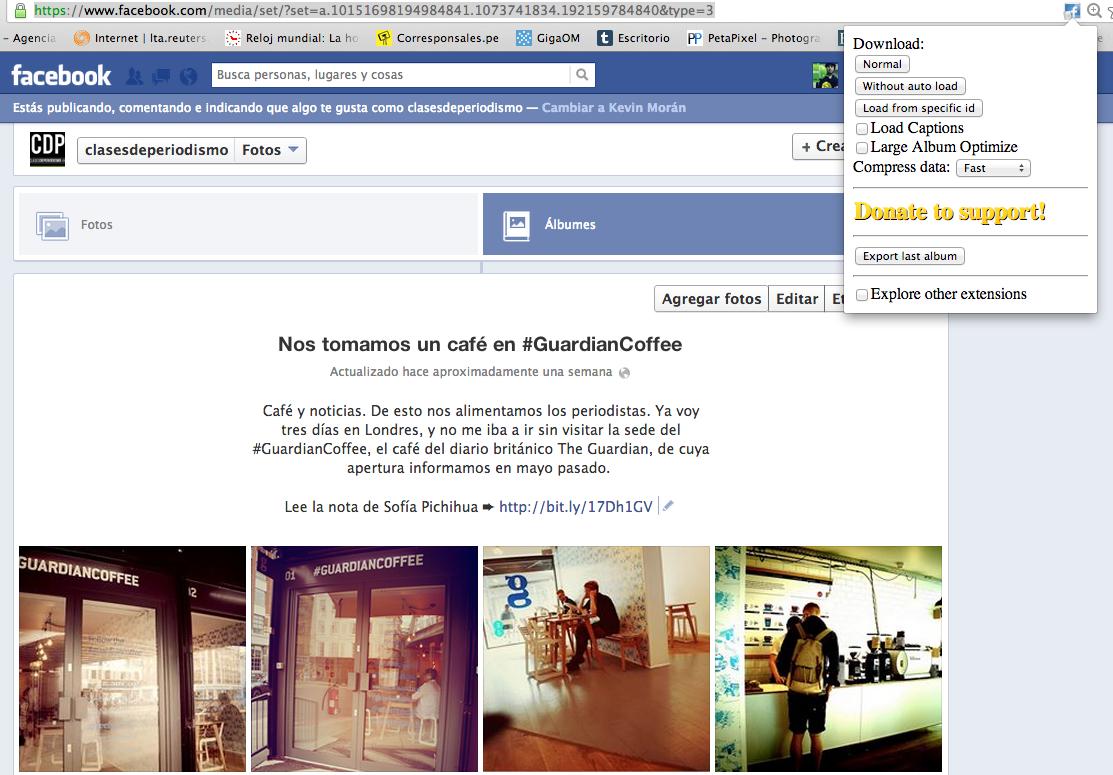 Extensión para Facebook