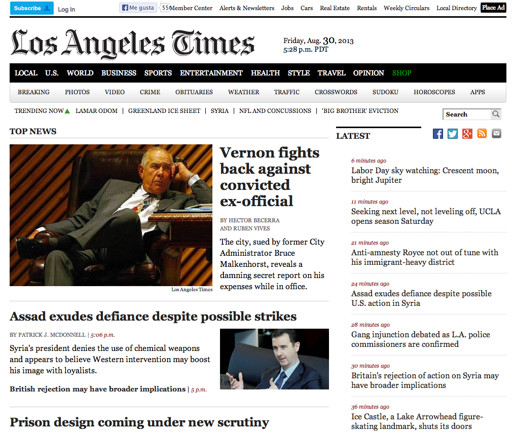 the angeles times