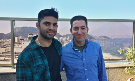 Glenn Greenwald (derecha) y  David Miranda, Fotografía: Janine Gibson (The Guardian)