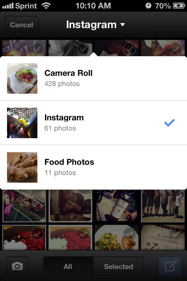 Instagram móvil
