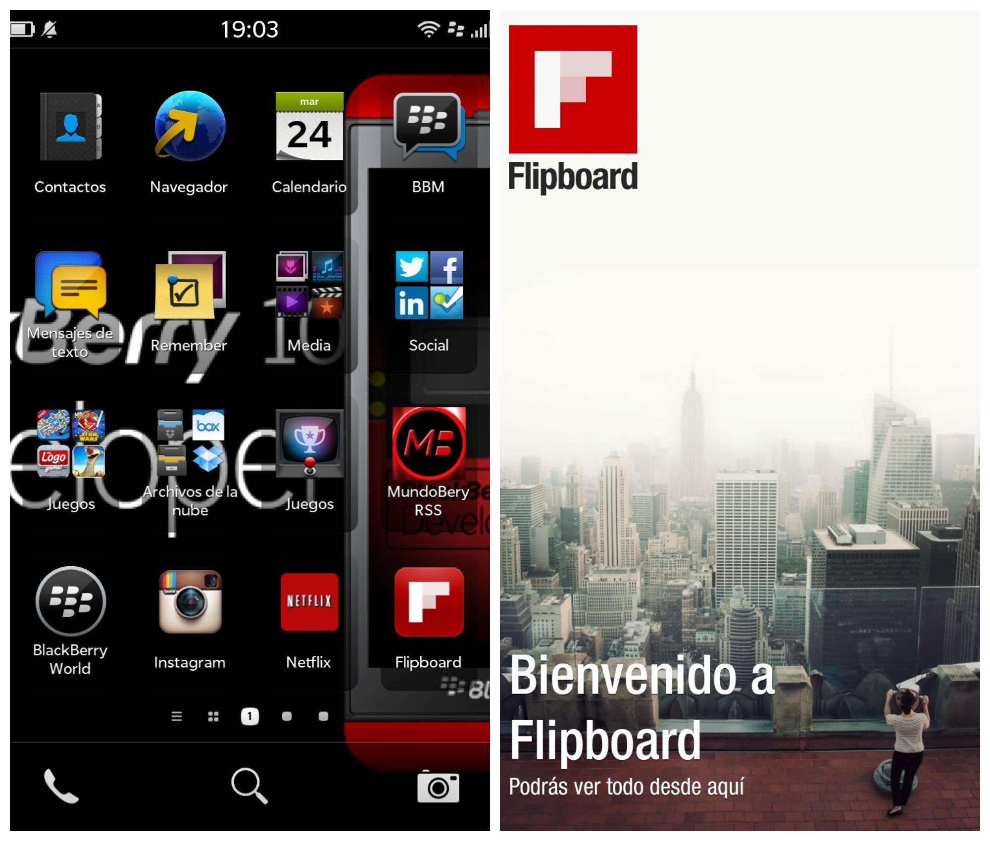 blackberry flipboard