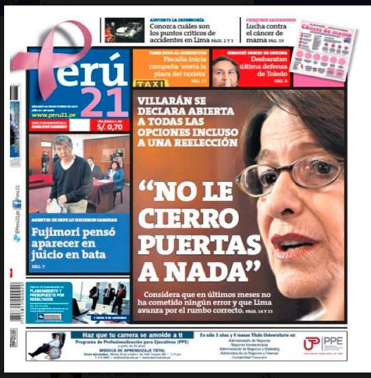 Portada Perú.21