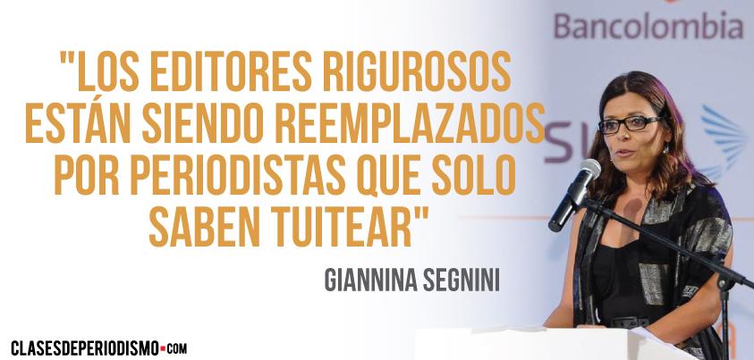 """Segnini: """"Los editores rigurosos están siendo reemplazados por periodistas que solo saben tuitear"""""""