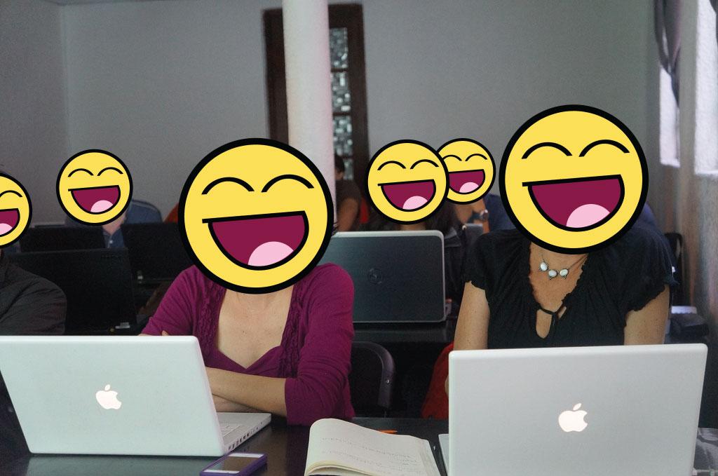 periodistas felices