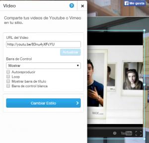 video wix