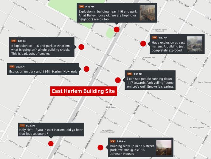 Los tuits de las personas cercanas a la explosión de Harlem.