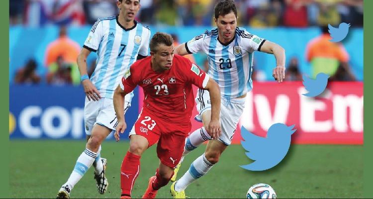 Más de 6.3 millones de tuits en el partido entre Argentina y Suiza