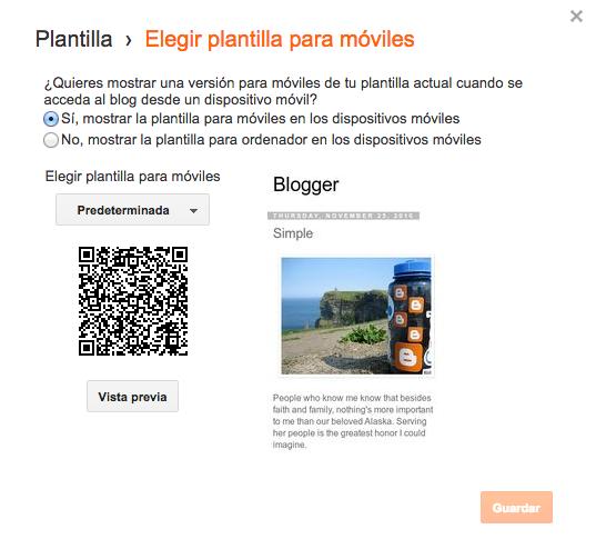 blogger movil