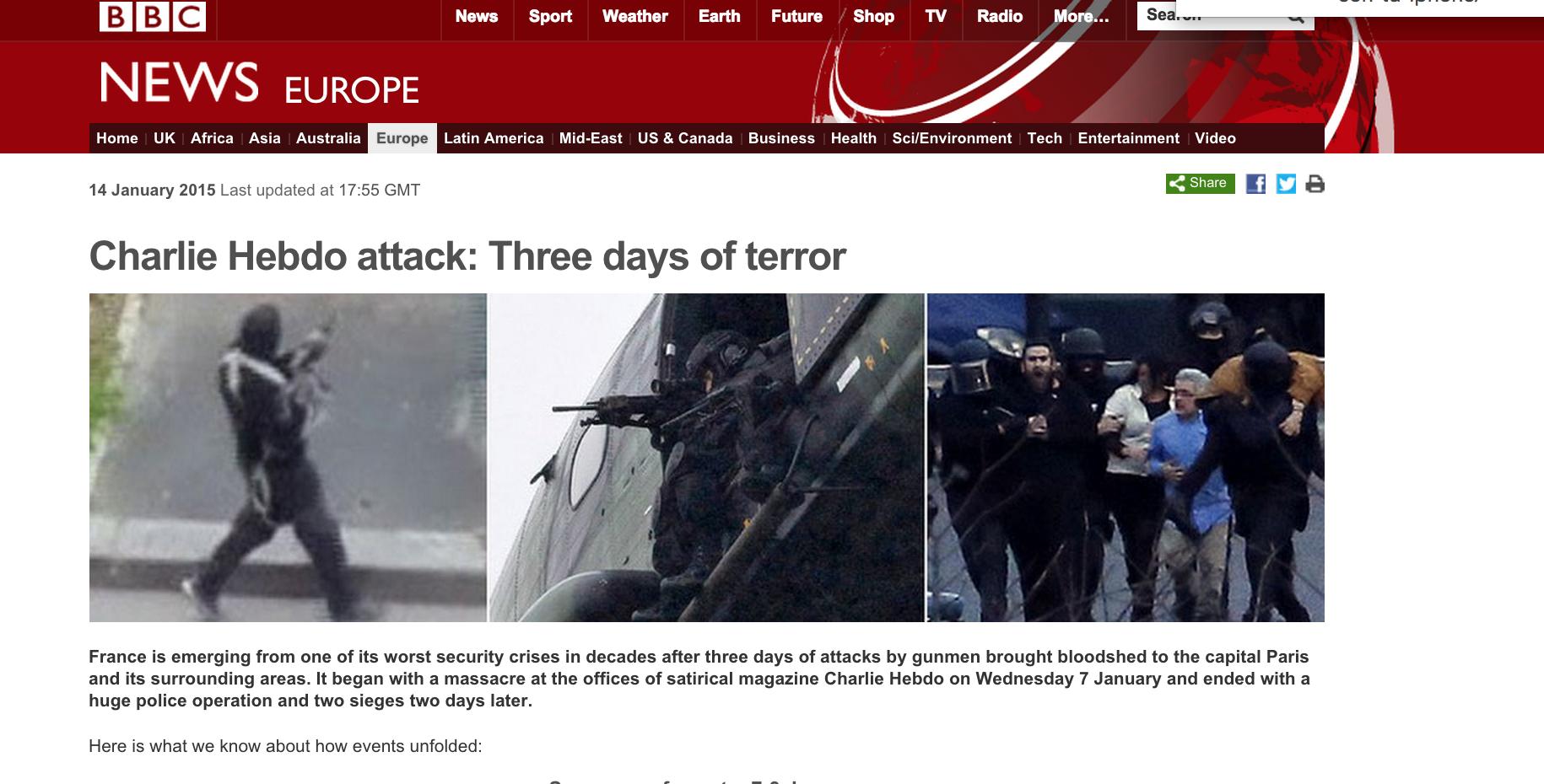 BBC cobertura