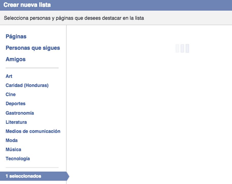 facebook pagina lista