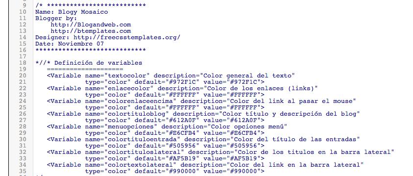 html diseño blog