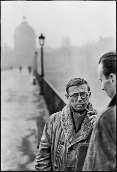 FRANCE. Paris. Pont des Arts. French writer and philosopher, Jean-Paul SARTRE. 1946.