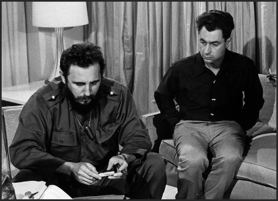CUBA. Havana. Fidel CASTRO and American photographer Elliott ERWITT. 1964.
