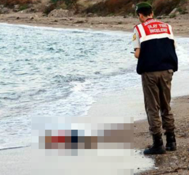 Migrante fallecido.