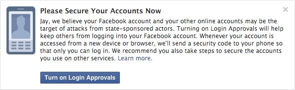 Facebook notificación