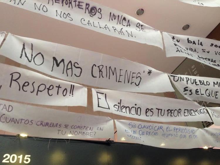 No más crímenes periodistas