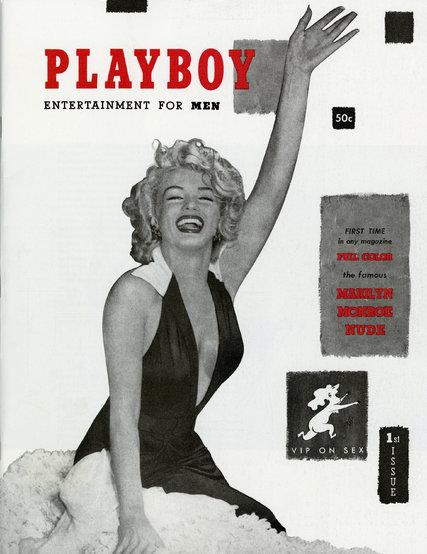 1953 debut de Playboy, con Marilyn Monroe.
