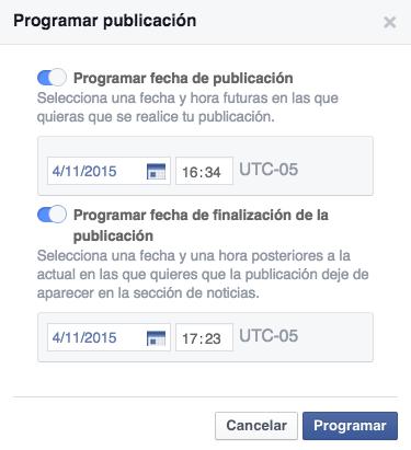 facebook programacion