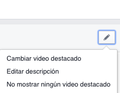 cambiar video destacado facebook