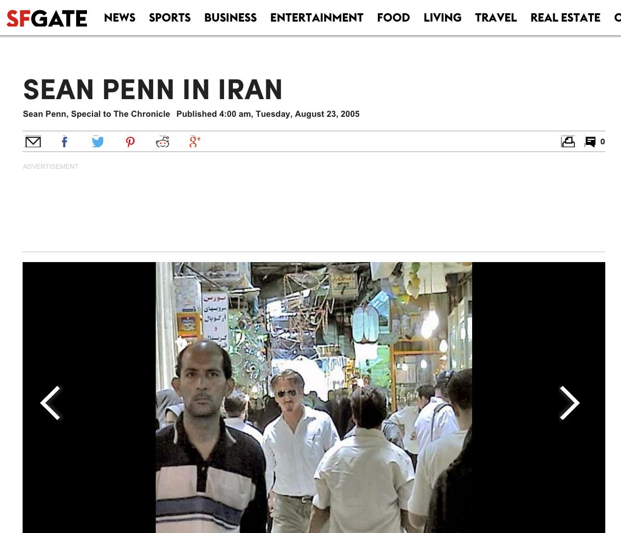 Sean Penn en Irán