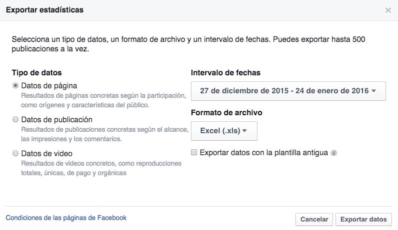 exportar video facebook
