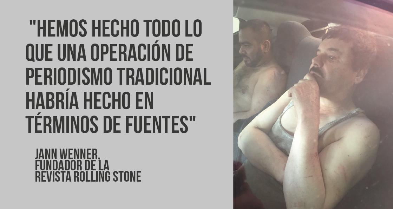 c14443fa0 Rolling Stone cuenta detalles de la publicación de entrevista con Chapo  Guzmán - Clases de Periodismo