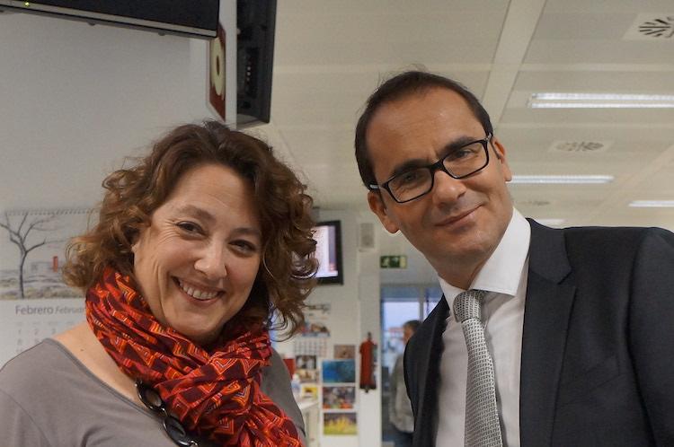 Virginia P. Alonso y David Jiménez, director de El Mundo.
