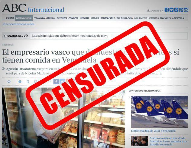 ABC elimina noticia sobre los ricos y la comida en Venezuela