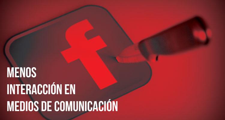 Caen las interacciones de las publicaciones en Facebook