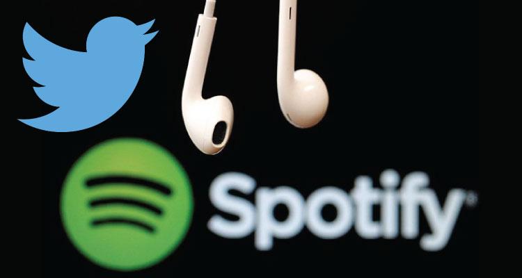 Twitter dejará escuchar canciones de Spotify en tu 'timeline'