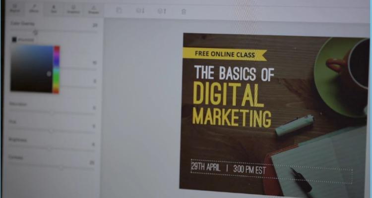 Una herramienta para crear diseños sencillos con texto e imágenes