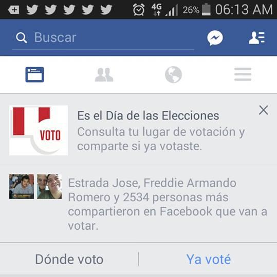 elecciones peru facebook