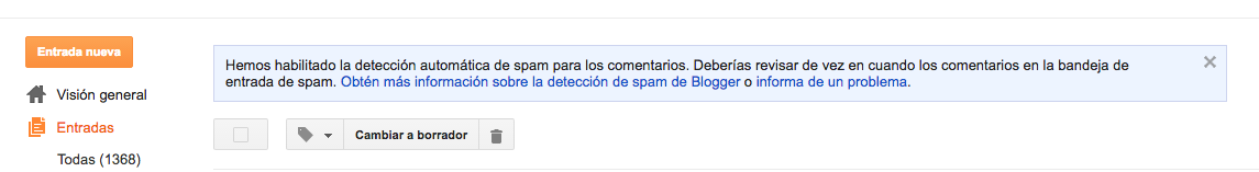 blogger spam