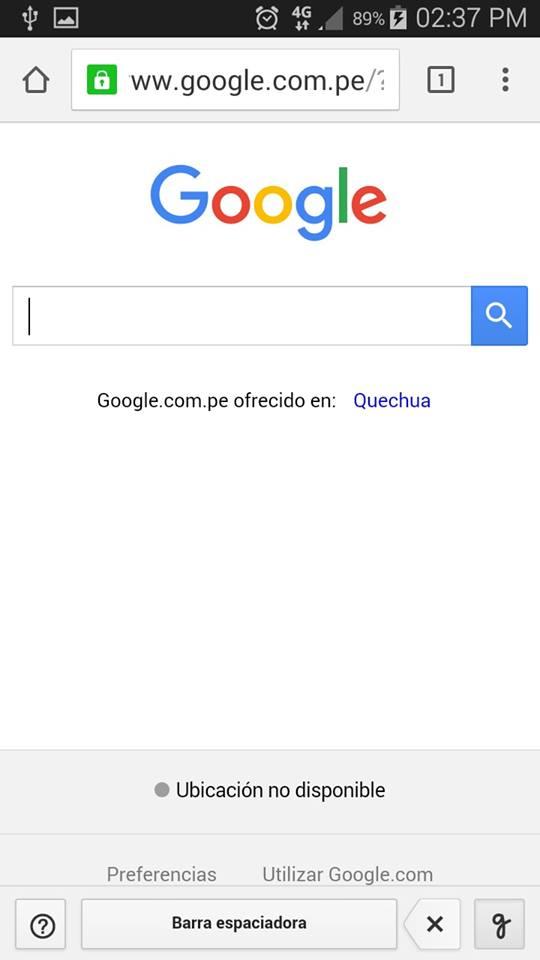 google escritura táctil