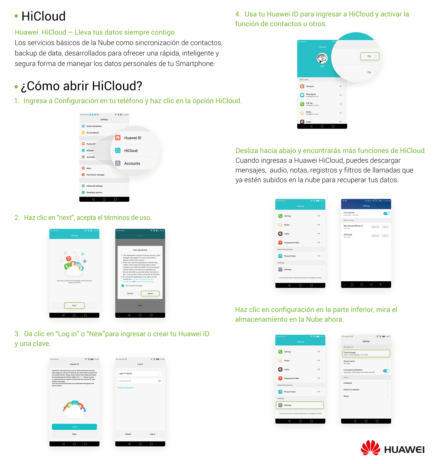 HiCloud - Cómo usarla