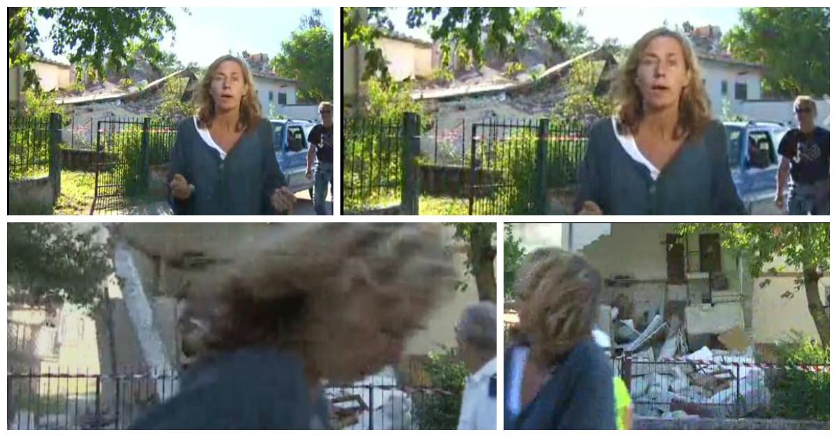 Terremoto en Italia: Edificio se derrumba mientras reportera de CNN hacía Facebook Live