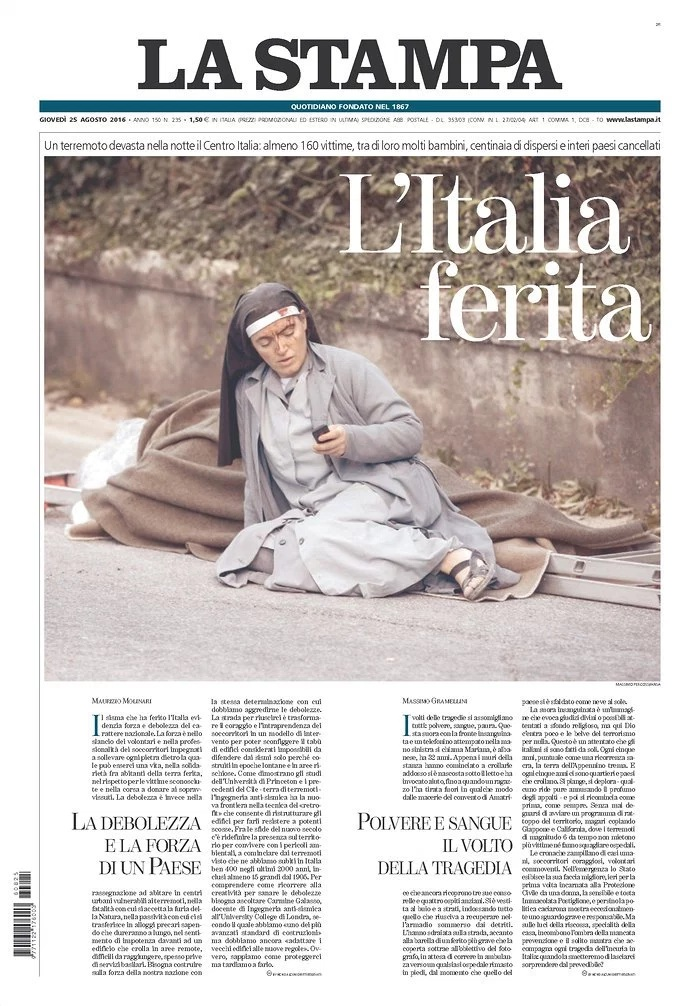 Terremoto en Itlaia_La Stampa