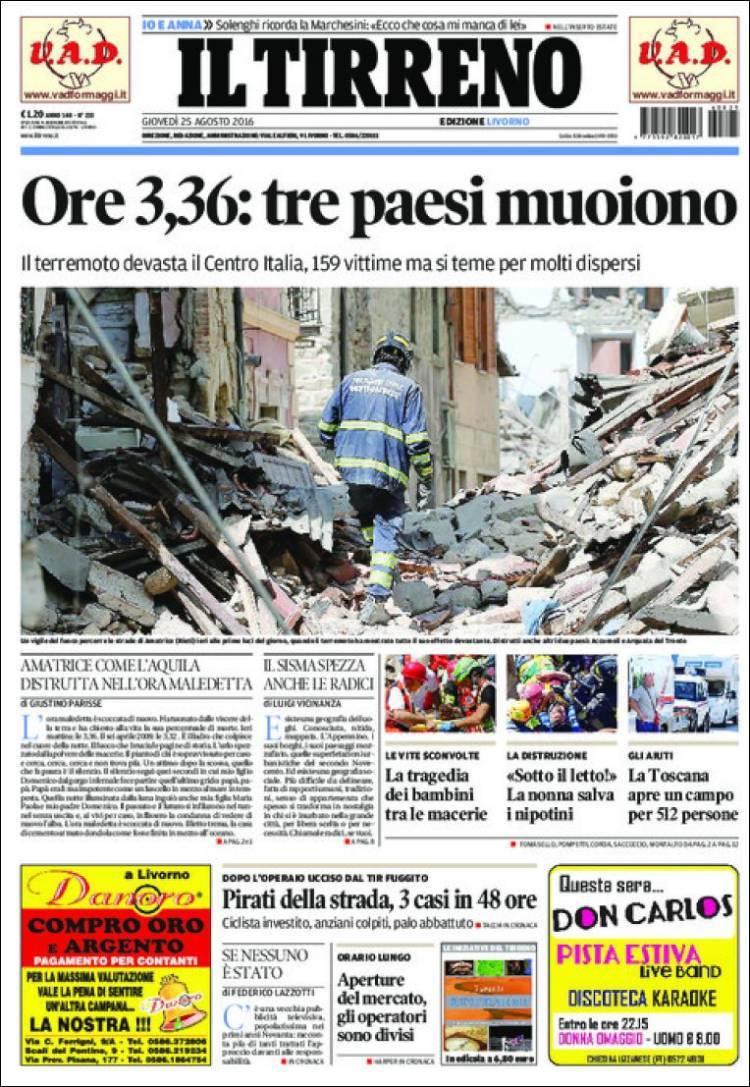 Terremoto en Itlaia_Tirreno
