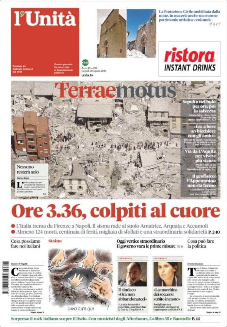 Terremoto en Itlaia_l'unita