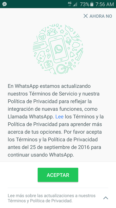 terminos whatsapp
