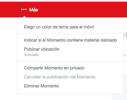 como crear un momento twitter