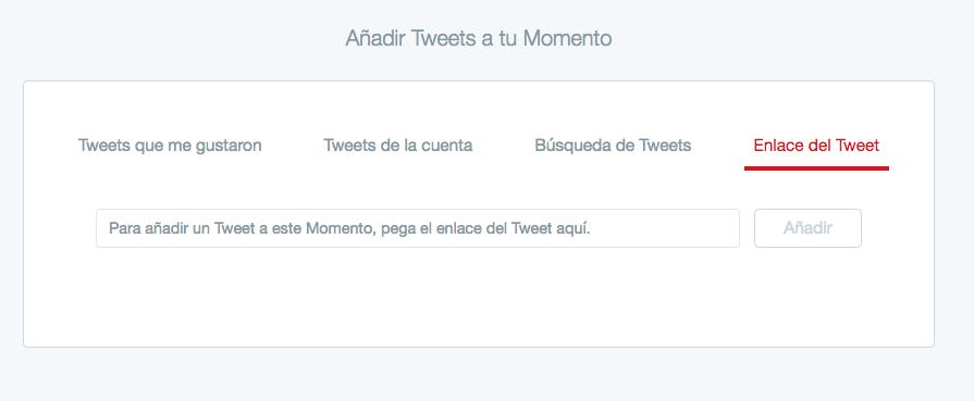 crear un momento twitter