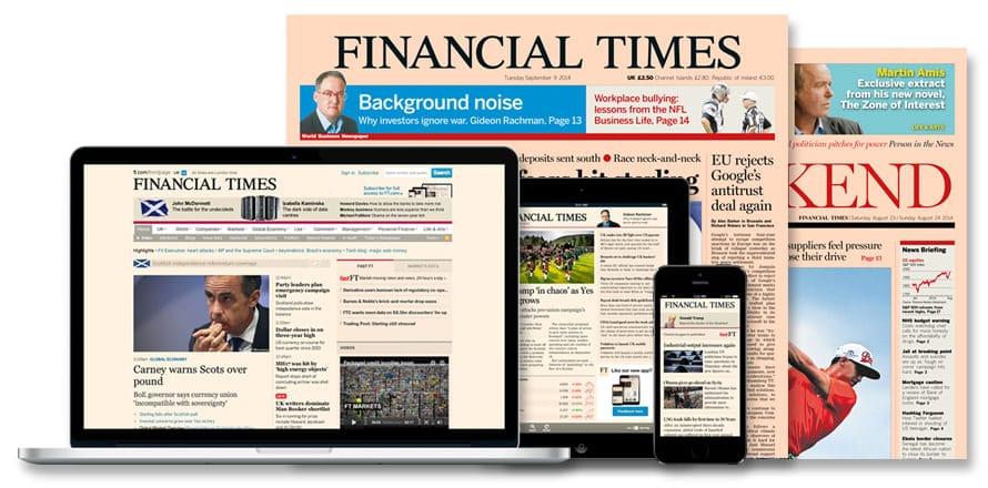 Los ingresos digitales del Financial Times superaron al papel