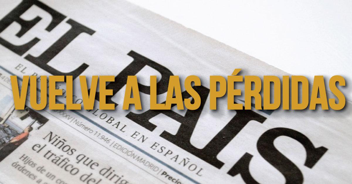 La edición en papel de El País de España pierde lectores