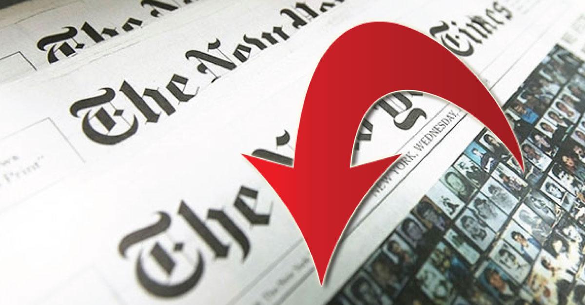 La publicidad del NYT en papel cayó del 70% al 28% desde el 2000